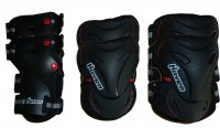 3-dílný inline skate set HAVEN Optimum Skate Set - black