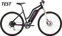 elektrokolo Rock Machine CrossRide e350 lady TEST 504 Wh+nab. mat black/silver/pink (L)