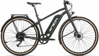 elektrokolo Rock Machine CrossRide e375 Touring TEST mat khaki/black/silver (500Wh) (M)
