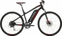 "elektrokolo Rock Machine CrossRide e350 mat black/silver/brick red +bat. 418 Wh, 18"" (M)"