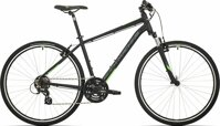 kolo Rock Machine CrossRide 100 mat black/neon green/dark grey (M)