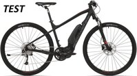 elektrokolo Rock Machine CrossRide e500 TEST mat black/brick red/dark grey (L)