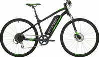 "elektrokolo Rock Machine CrossRide e350 mat black/silver/neon green +bat. 418 Wh, 18"" (M)"