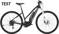 elektrokolo Rock Machine CrossRide e400 Lady TEST mat black/silver/white (M)