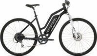 "elektrokolo Rock Machine CrossRide e350 lady mat black/silver/white +bat. 418 Wh, 17"" (M)"